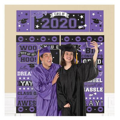 Abschluss Szene Setter Klasse Von 2020 Party Wand Dekoration Hintergrund Lila