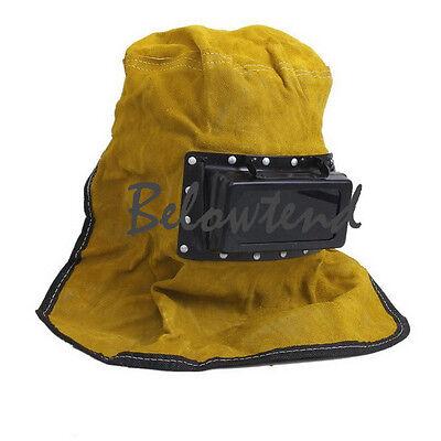 High Quality Foldable Leather Welder Welding Helmet Mask Grinding Hood Tool