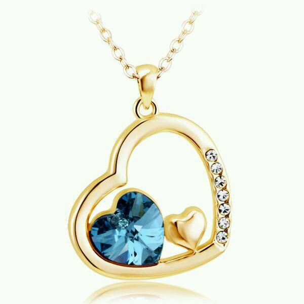 New Ladies Mutal Affinity Love Heart Shape Necklace