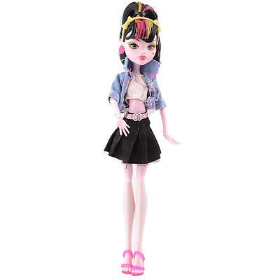 Doll accessories Doll Clothes dress Set For monster high school doll v15