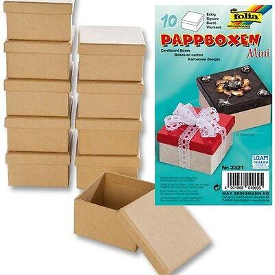 Bastelset für Kindergeburtstag, Geschenkbox/Schmuckschatulle selber basteln 10er
