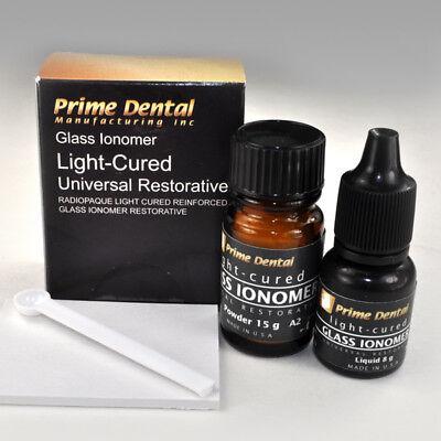 Glass Ionomer Light Cured Universal Restorative Cement Kit A2 Prime-dent Usa Fda