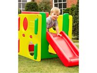 Little Tikes Junior Activity Gym Cube with Slide Red Green Yellow