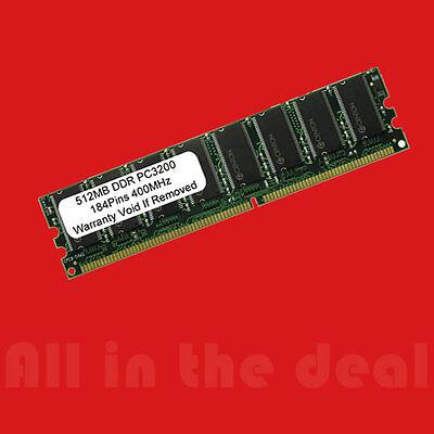 512MB DDR 400 Mhz PC-3200 184 pin DELL HP APPLE MAJOR Desktop MEMORY