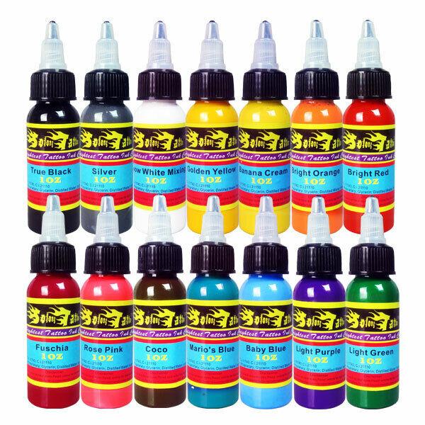 Solong Tattoo Ink 14 Colors Set 1oz 30ml/Bottle Tattoo Pigment Kit US Stock