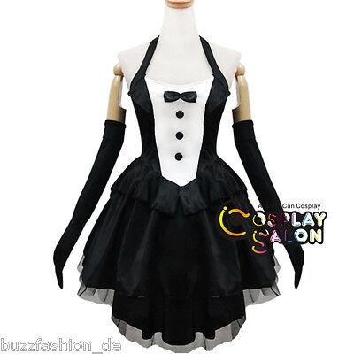 Frauen's Mode Sexy Schwarz Mixed Weiß Hase Lady Halfter Kleid Cosplay Kostüm