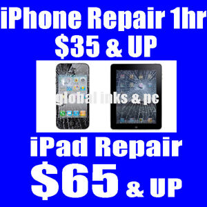 Cracked iPhone? $35 & Up - iPad Repair from $65