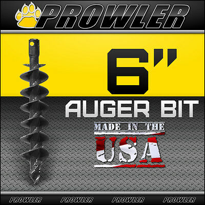 6 Auger Bit With Round Collar For Skid Steer Loaders 4 Length - 6 Inch