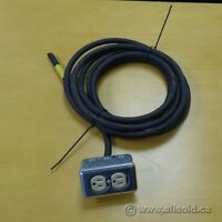 Heavy Duty SJOOW Power Cord Lead Wire with 2 Plug Outlet Drop
