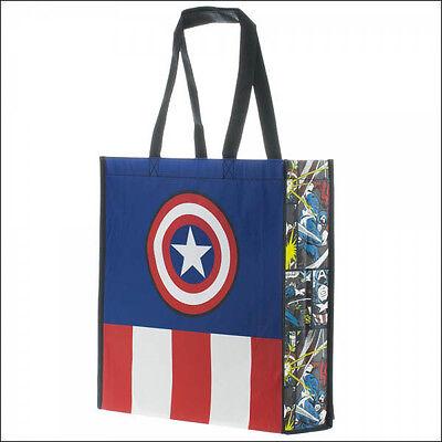 Captain America Marvel Comics Man of Steel Shoulder Sling Shopper Tote Bag Purse - Captain America Purse