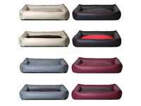 New Luxury PU Leather Puppy Dog Cat sofa bed waterproof