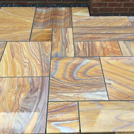 Indian sand stone paving RAINBOW 22mm Honed & calibrated
