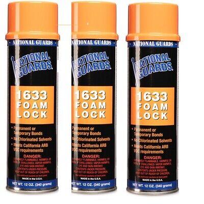 3 X Foam Lock Spray Adhesive 12 Oz. Free Shipping