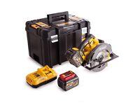 DeWalt DCS575T2-GB 54v XR FLEXVOLT Circular Saw, 2x 6.0Ah Batteries, TSTAK