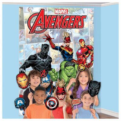 Marvel Avengers Szene Setter Energien Unite Wand Hintergrund Party Deko Props