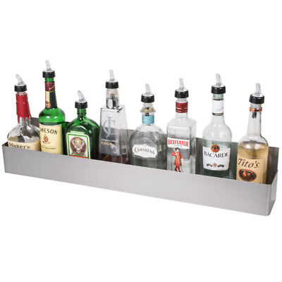 32 Silver Stainless Steel Single Tier Commercial Bar Speed Rail Rack