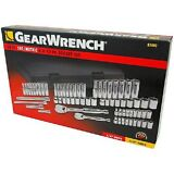 """GearWrench 68 Pc. 1/4"""" and 3/8"""" Drive 6 and 12 Point SAE/MM Mechanics Tool Set"""