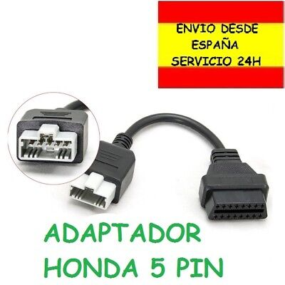 Adaptador OBD Honda 5 PIN a obd2 16 pin diagnosis Cnevtor Diagnóstico...