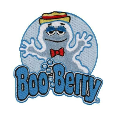 Boo Berry Patch Iron On Ghost Blueberry Breakfast Cereal Monster Horror Goth