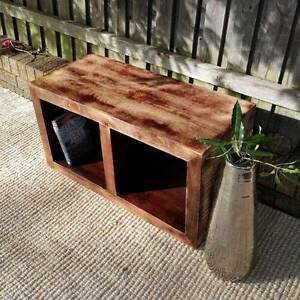 Storage Cube Bookcase Coffee Side Table Distressed Mango Wood Coogee Eastern Suburbs Preview