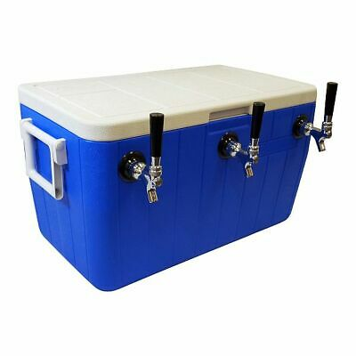 Jockey Box Cooler - 3 Faucet 516 X 50 Stainless Steel Coils 48qt Draft Beer