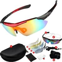 Sunglasses UV400 5 Lens Replacement Goggles Glasses Cycling