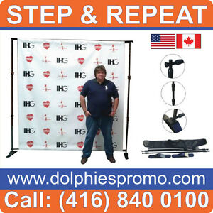 Telescopic Pop Up Banner Stand Trade Show Booth Backdrop Wall