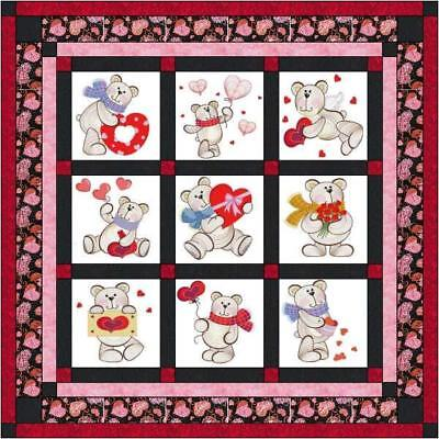 Easy Quilt Kit/Happy Valentine Day/Ready To Sew/Finished Embroidery Blocks](Easy Valentine's Day Crafts)
