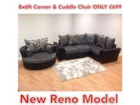 Brand New DQF Corner &Cuddle Chair deal .. ONLY £699