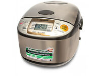 Rice cooker & warmer from renowned Zojirushi, Model: ns-tsq10 -(pre- owned)