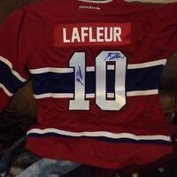 Guy Lafleur double autographed jersey