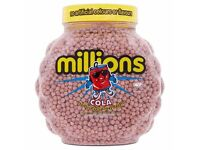 MILLIONS, COLA FLAVOUR 2.27kg TUB DATED NOV 2017