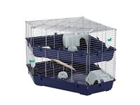 Indoor large corner double cage