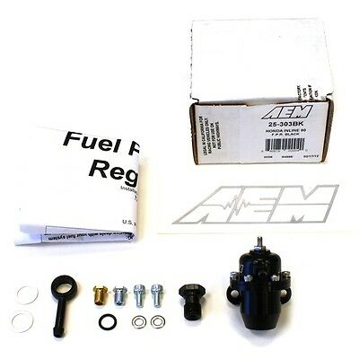 AEM BILLET FUEL PRESSURE REGULATOR FPR FOR 86-93 ACURA INTEGRA 25-303BK