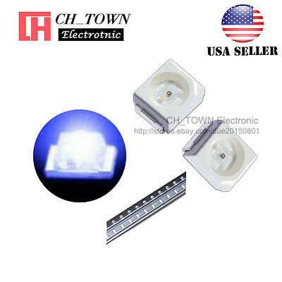 100pcs 1210 3528 Blue Light Plcc-2 Smd Smt Led Diodes Ultra Bright Usa