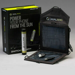 Goal Zero Switch 8 Solar Recharging Kit (Recharger, Solar panel)