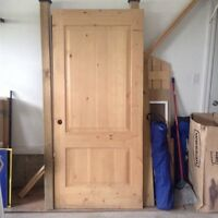 New Solid Wood Door - $200