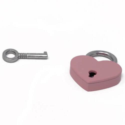 Small Metal Heart Shaped Padlock Mini Lock with Key for Jewelry Storage