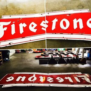 HUGE FIRESTONE PORCELAIN 1964 sign