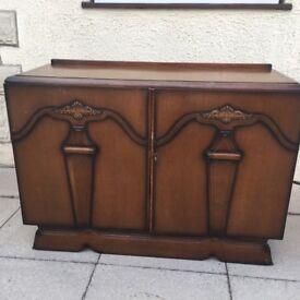 Fabulous Art Deco 1930s oak wooden sideboard