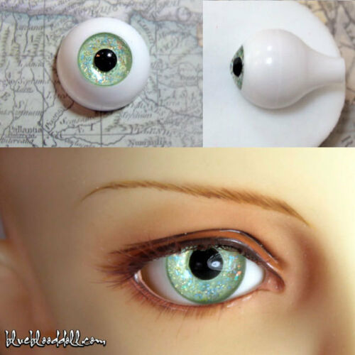 1//3 1//4 bjd 16mm acrylic doll eyes metallic peacock green full eyeball dollfie