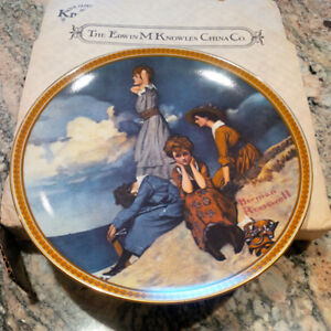 """Norman Rockwell, """"Waiting on the Shore"""" limited edition plate London Ontario image 1"""
