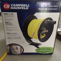 Campbell Hausfield 50ft Air Hose w/ reel