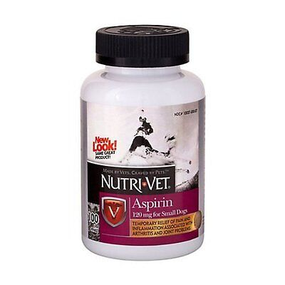 Nutri-Vet K9 Dog Aspirin for Small Dogs Joint Pain Arthritis Relief 100ct