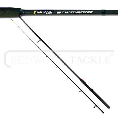 Brand New Oakwood Match/Carp Feeder/Quiver Fishing Rod 9ft + Tips