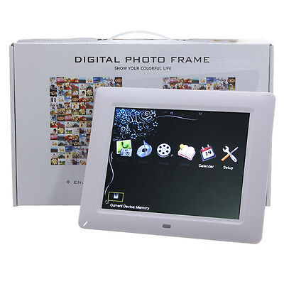 "Remote 8"" High TFT-LCD HD Digital Photo Movies Frame Alarm Clock MP3 MP4 Player"