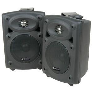 QTX Sound QR5B 2-Way Active DJ Disco Party Studio Speakers Black PAIR QR-5B