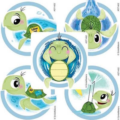 25 Tropical Ocean Life Sea Turtle Stickers Party Favors Baby Shower 1st Birthday