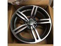 "BMW m6 style alloy wheels 18"" 9.5j 5120 fitment 5 6 7 series x5 x3 m sport alloys brand new boxed"
