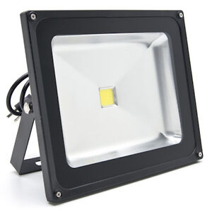 50W LED Flood Light COOL White High Power Outdoor Spotlights Ind